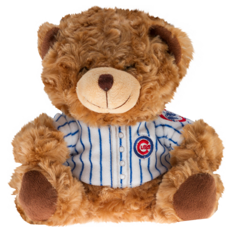 "Chicago Cubs Pinstripe Jersey 7"" Seated Bear"