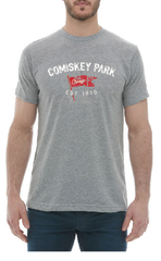 Men's Comiskey Park Brushcraft Est. Flag Short Sleeve Tee-Heather/Grey