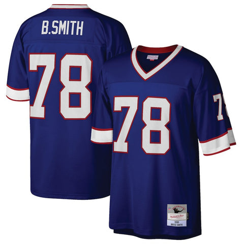 Men's Buffalo Bills Bruce Smith Mitchell & Ness Royal 1990 Retired Player Replica Jersey