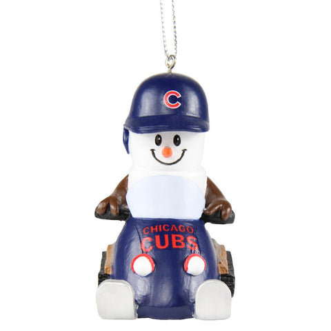Chicago Cubs S'mores Snowmobile Ornament
