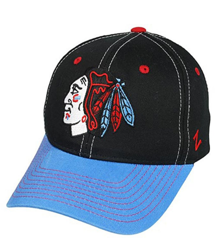 Chicago Blackhawks NHL Staple Flag Colors Adjustable Snapback Hat By Zephyr