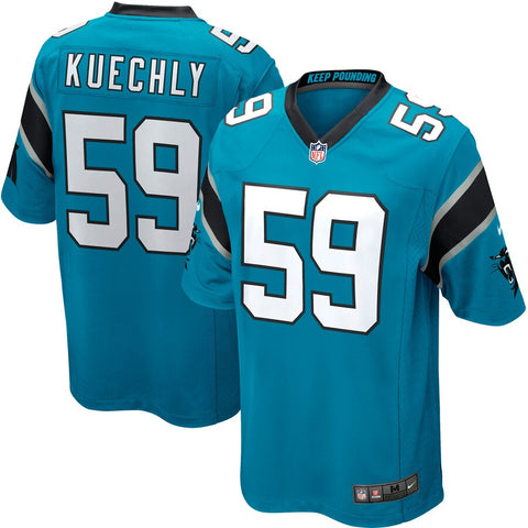Mens Carolina Panthers Luke Kuechly Nike Blue Alternate Game Jersey