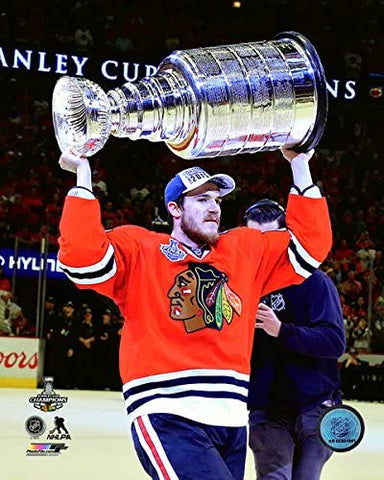 Chicago Blackhawks Andrew Shaw with the Stanley Cup Game 6 of the 2015 Stanley Cup Finals