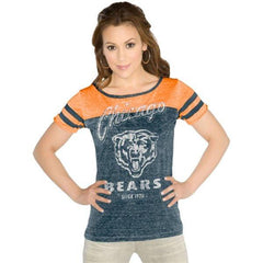 Women's Chicago Bears All-Star Tri-Blend Slim Fit Burnout T-Shirt