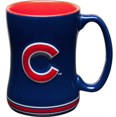 Chicago Cubs 14 Ounce Sculpted Relief Coffee Mug