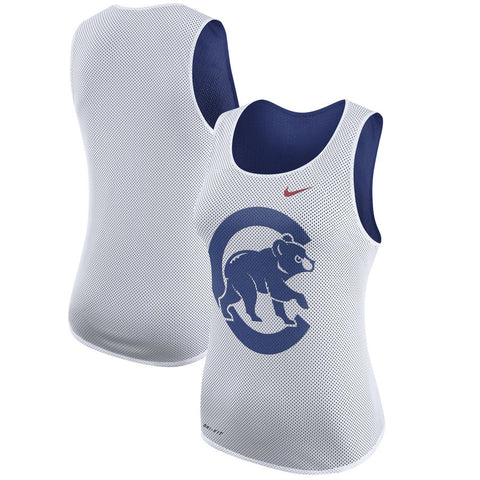 save off 288a9 92e40 Women's Chicago Cubs Nike White Out Tank Top