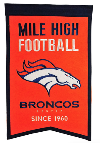 Denver Broncos Traditions Banner By Winning Streaks