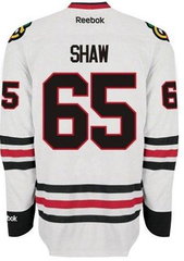 Andrew Shaw Chicago Blackhawks Premier Replica Road White Jersey