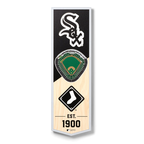 Chicago White Sox 6'' x 19'' 3D StadiumView Banner