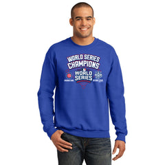 Men's Chicago Cubs World Series Champions Crew Neck Fleece