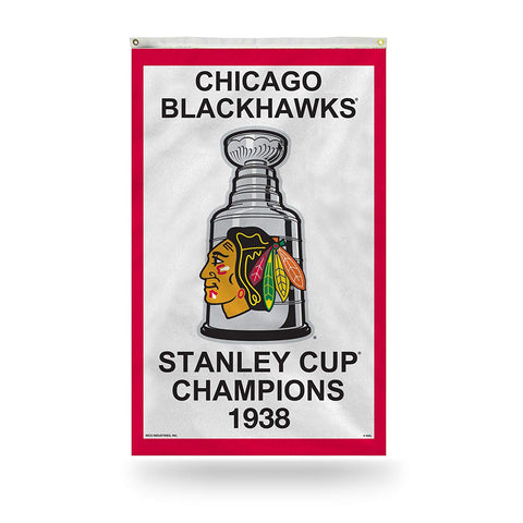 Chicago Blackhawks 1938 Stanley Cup Champions 3' x 5' Vertical Banner Flag