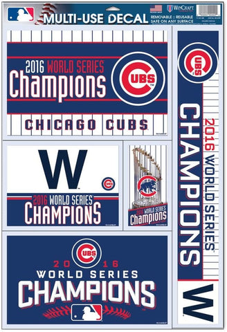 Officially Licensed MLB Chicago Cubs 2016 World Series Champion Window Decal