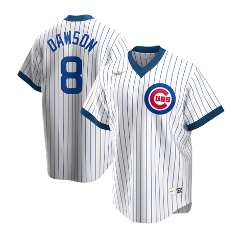 Men's Chicago Cubs Andre Dawson Nike White Home Cooperstown Collection Player Jersey