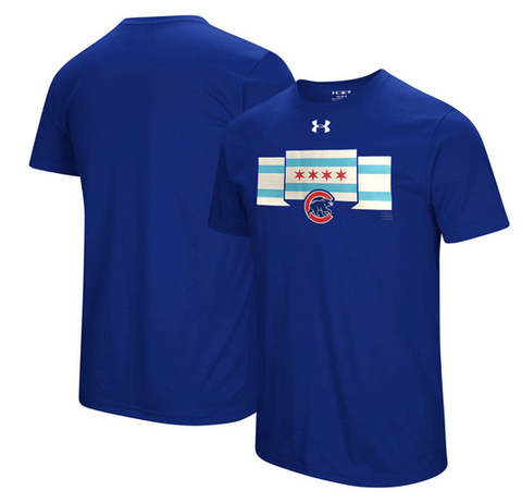 Mens Chicago Cubs Passion Flag T-Shirt by Under Armour