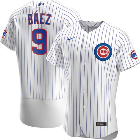 Men's Chicago Cubs Javier Baez Nike White Home Authentic Player Jersey