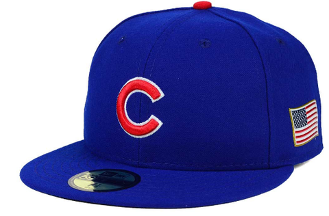 Chicago Cubs American Flag Side Patch 59Fifty Fitted Cap