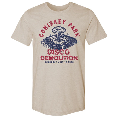Men's Comiskey Park Disco Demolition Cream Dual Blend Short Sleeve Tee