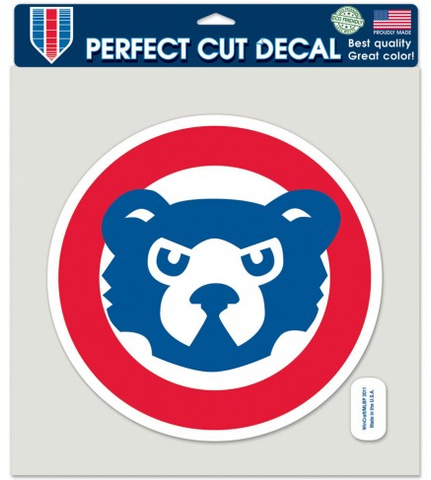 Chicago Cubs Perfect Cut Cooperstown Collection 8X8 Bullseye Logo Decal