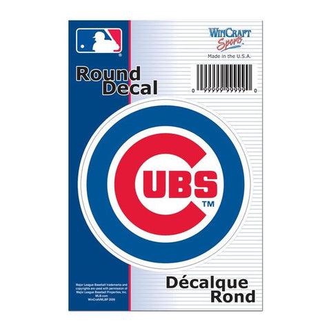 "MLB Chicago Cubs 3"" Round Decal"