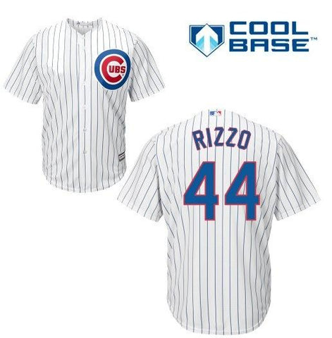 Men's Chicago Cubs Anthony Rizzo Majestic White Cool Base Player Jersey