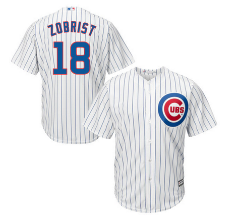 Ben Zobrist Chicago Cubs Youth Stitched Home Replica Jersey