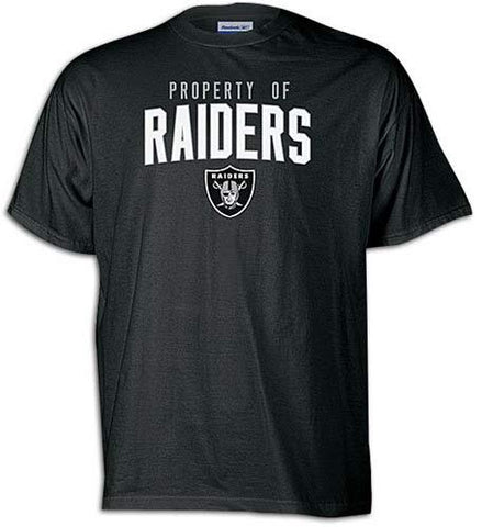 Youth Las Vegas Raiders Black Property Of Reebok Tee