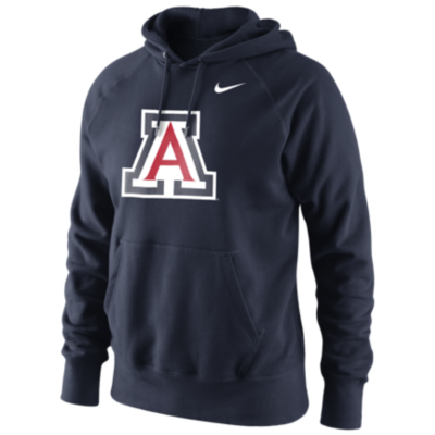 Men's Arizona Wildcats Navy Classic Logo Fleece Hoodie