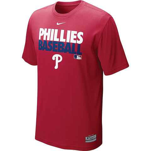 NIKE MLB Philadelphia Phillies MLB Authentic Collection Graphic Performance T-Shirt - Red