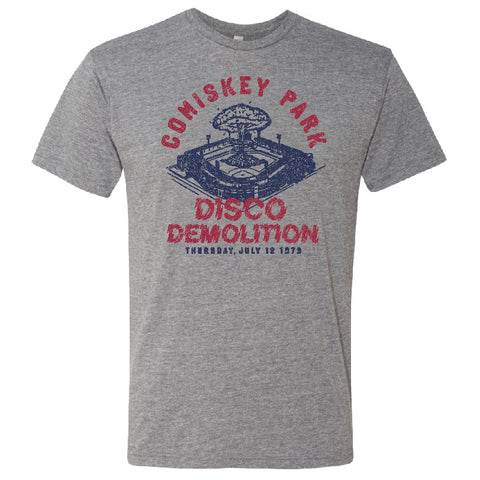 Men's Comiskey Park Disco Demolition Heather Gray Dual Blend Short Sleeve Tee