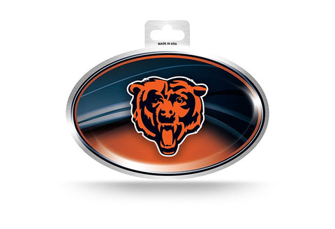 Chicago Bears Metallic Oval Sticker
