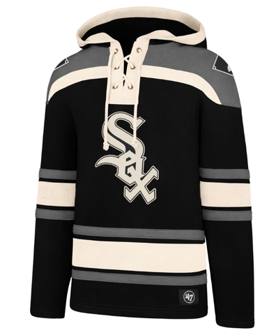 Men's Chicago White Sox Jet Black Superior Lacer Hoodie By '47 Brand
