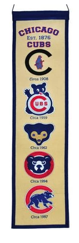 MLB Chicago Cubs Fan Favorite Heritage Banner By Winning Streak