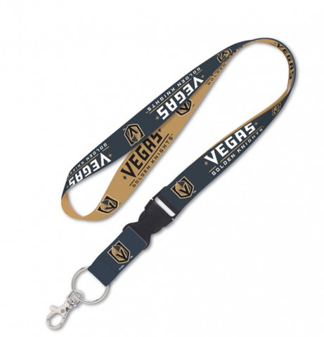Vegas Golden Knights Double Sided Lanyard With Detachable Buckle By Wincraft