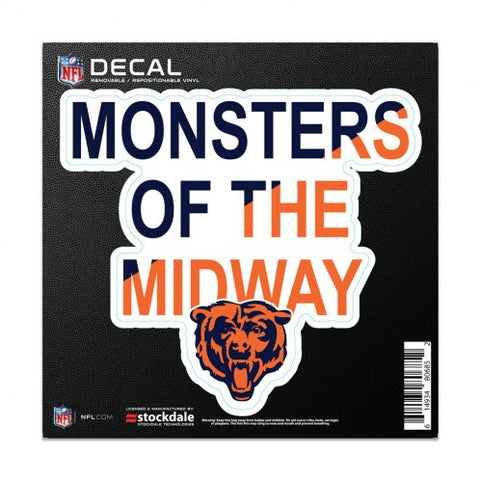 "Chicago Bears 6X6 ""Monsters of the Midway"" All Surface Decal By Wincraft"