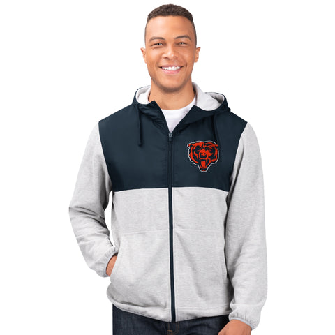 Men's Chicago Bears Cotton Poly Full-Zip Jacket