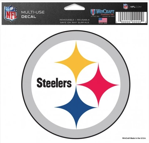 NFL Pittsburgh Steelers 5X6 Multi-Use Decal By Wincraft