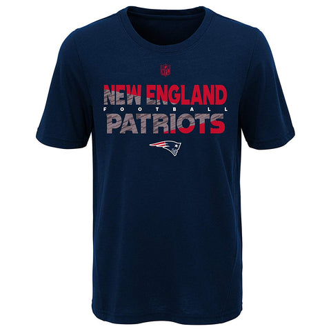 New England Patriots Youth NFL Flux Dual Blend Short Sleeve T-Shirt