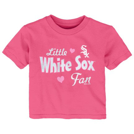 Toddler Girls Chicago White Sox Pink Girly Fan Tee