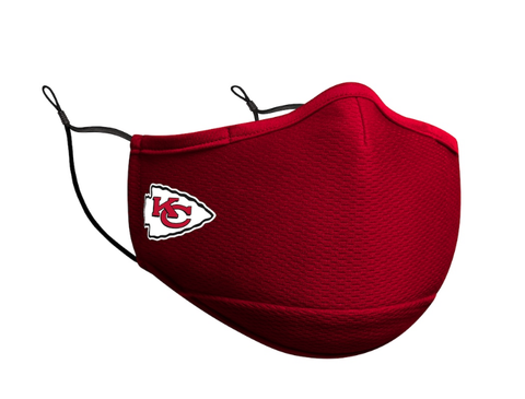 Adult Kansas City Chiefs New Era Team Color On-Field Face Mask