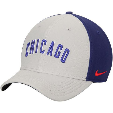 Chicago Cubs Nike Gray/Royal Color Vapor Classic Adjustable Performance Hat