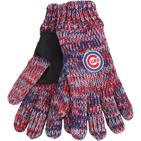 Chicago Cubs Peak Knit Gloves By Forever Collectibles