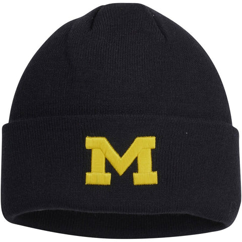 Top of the World Michigan Wolverines Simple Cuffed Knit Beanie - Navy Blue