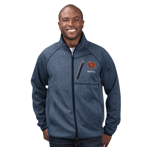 Men's Chicago Bears Switchback Full Zip Player Lightweight Shell Jacket