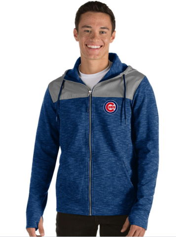 Men's Chicago Cubs Exertion Full Zip Hoodie By Antigua