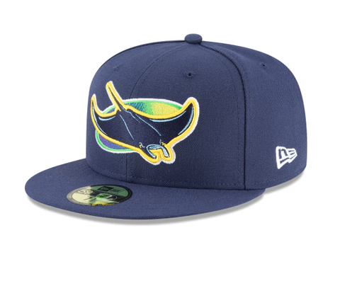 Men's Tampa Bay Rays New Era Navy Game Authentic Collection Alternate On-Field 59FIFTY Fitted Hat