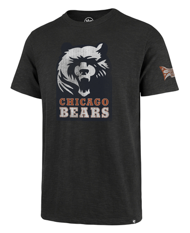 Chicago Bears Men's Legacy Charcoal Two Peat  Scrum Tee By '47 Brand
