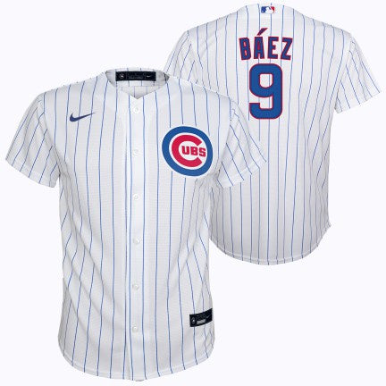 NIKE Youth Javier Baez Chicago Cubs White Home Replica Jersey