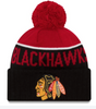 Chicago Blackhawks Junior Sports Pom Knit Hat By New Era