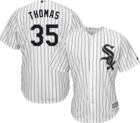 Majestic Men's Replica Chicago White Sox Frank Thomas Cool Base Home White Jersey