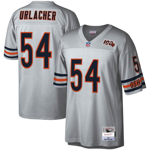 Men's Chicago Bears Brian Urlacher Mitchell & Ness Platinum NFL 100 Retired Player Legacy Jersey